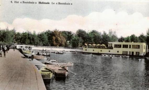 Postkaart brasserie Bootshuis