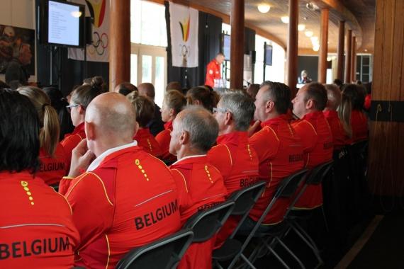 Team Belgium in het Sportimonium