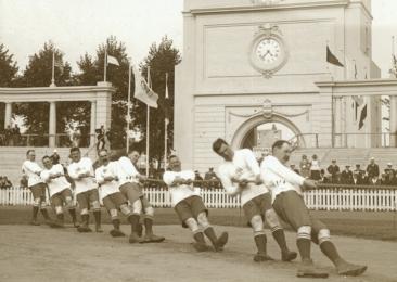 Olympische spelen 1920 Antwerpen: touwtrekken